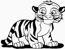 Small Picture Cute Tiger Coloring Pages Getcoloringpages Com Coloring Coloring