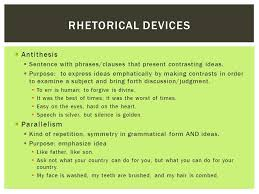 persuasive writing and speaking ppt video online  4 rhetorical devices antithesis parallelism