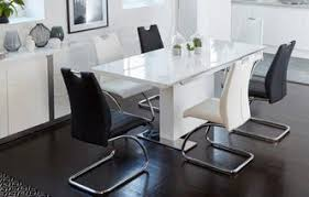 Nice Monochrome Extending Dining Table U0026 Set Of 4 Chairs Monochrome