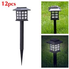 garden post. 12PCS Solar Oriental Transport Lights Garden Post Power Carriage Light Ground Spike LED Outdoor Lighting