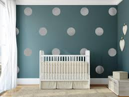 image of white polka dot wall decals