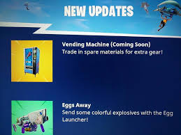 Vending Machine News Cool Fortnite' Update To Add Vending Machine Soon