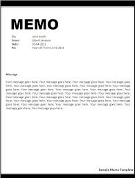 Memo Template For Google Docs Letters And Memos Are Two Common Formats For Business