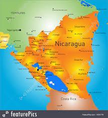 nicaragua map illustration