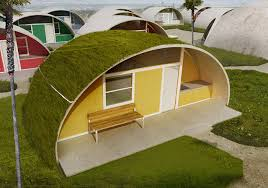 An inflatable concrete house
