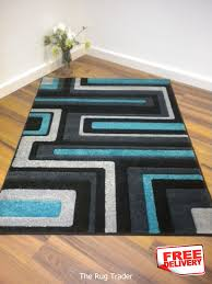 Black and turquoise rug Indoor Outdoor Black And Turquoise Area Rugs Viola 921q Black Grey Turquoise Blue Rug 160cm 230cm viola921q1 Pinterest Black And Turquoise Area Rugs Viola 921q Black Grey Turquoise Blue