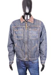 Timberland Jeans Size Chart Details About Timberland Mens Jean Jacket Vintage Blue Jeans L