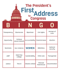 Play Presidential Bingo What Will President Trump Say About