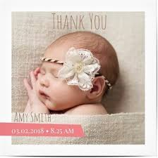 Baby Thankyou 50 Off Personalised Baby Thank You Cards Optimalprint
