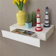 white mdf floating wall display shelf 1