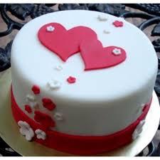 Love In Hearts Cake Creamfondant In Hyderabad Buy Cakes Online In