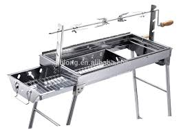 Camping garden balcony foldable rotisserie BBQ barbecue grill with charcoal  drawer design