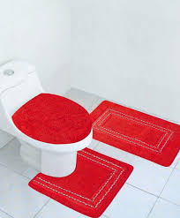 red bath rugs sets