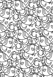 fish patterns printable. Exellent Printable Fish Pattern Coloring Page On Patterns Printable R