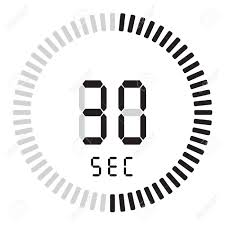 30 Sec The Digital Timer 30 Seconds Electronic Stopwatch With A Gradient