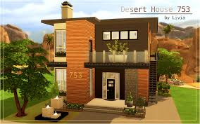 Small Picture Contemporary Desert House Sims 4 Houses