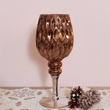 rose gold glass goblet candle holder large grand goblet decoration