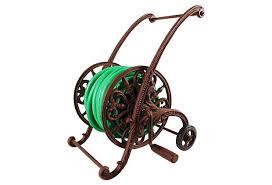 cast iron hose reel on wheels on