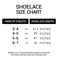 Shoelace Width Chart Care Products Shoe Accessories Satin Ribbon Shoelaces For