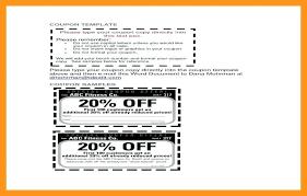 coupon templates word word template coupon coupon template word coupon templates