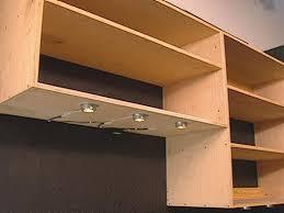 add aluminum trim to edges of shelves