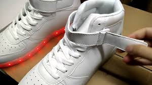 high top white led flashing shoes por light up sneakers for disco night club sneakers