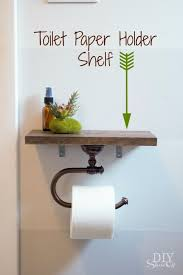 diy bathroom decor ideas toilet paper holder with shelf cool do it yourself bath