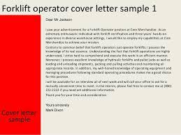 Ideas Of Cover Letter For Forklift Operator Best Mesmerizing