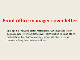 Front Office Administrator Cover Letter Sarahepps Com