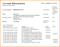 Sample Bank Statements Template Template Bank Account Template