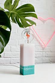 Diy Candle Wax Table Lamp