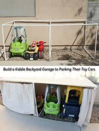 10 build a cool garage in the backyard for toys and cars