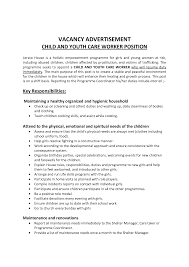 Childcare Resume Cover Letter Magnificent Cover Letter Child Care Worker With Additional Daycare 62