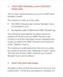 Simple Loan Agreement Template Contract Document Forms – Gamerates.co