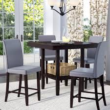 darby home co mckee 5 piece counter height dining set reviews wayfair