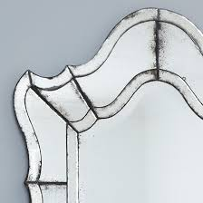 vintage mirror drawing. Close Up Of Curved Top Vintage Venetian Glass Wall Mirror Detailing The Aged Drawing