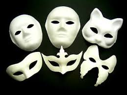 Plain White Masks To Decorate White Mask Plain Face Fancy Dress Decorate Party Play Masquerade 35
