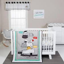 trend lab hello 4 piece crib bedding set