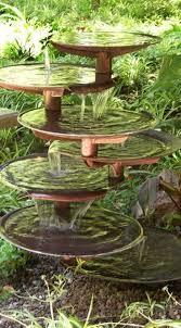 how to make an outdoor water fountain garden waterfall ideas statues interest yard deck small homemade