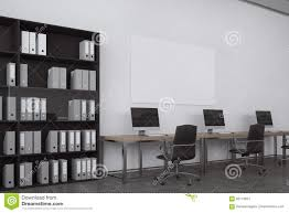 white office bookcase. White Open Space Office, Bookcase Stock Illustration - Of Desktop, Clear: 95713631 Office