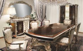 Italian Dining Room Decorating Ideas With High Class Furniture And Mirrors