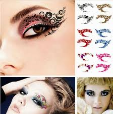 eyeliner rock eye temporary tattoo sticker makeup eyeshadow hot party make up