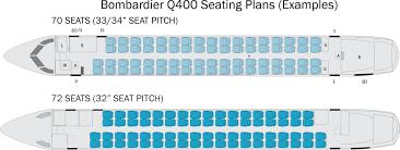De Havilland Dash 8 400 Seating Chart Bombardier Q400 Seating Plan Flyradius