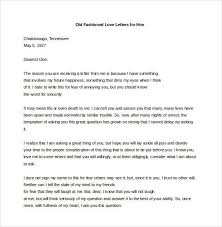 15 Love Letters For Him Free Sample Example Format