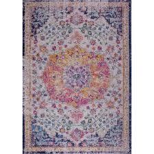 orlando blue yellow traditional indoor outdoor area rug 6 5 x 9 5 best canada