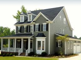gray ideas for exterior paint color combinations with white railing design