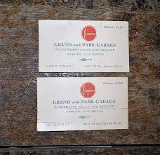 Studebaker Sales And Service Business Card Grand And Park Garage