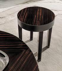 contemporary side table walnut ebony metal