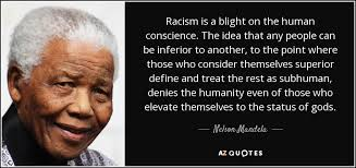 Quotes On Racism Unique Nelson Mandela Quote Racism Is A Blight On The Human Conscience