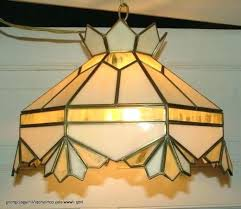 vintage stained glass hanging lamp hardware wonderful pendant old